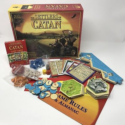 Settlers Of Catan Board Game 4th Edition 3061 COMPLETE Klaus Teuber Strategy USA