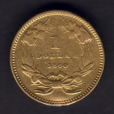 U.S.A. 1860 Gold Dollar..  Large Indian Head.. gVF