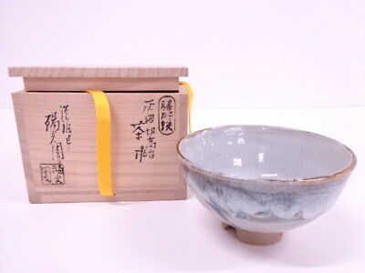 4173378: Japanese Tea Ceremony Zeze Ware Tea Bowl By Shinjo Iwasaki / Chawan