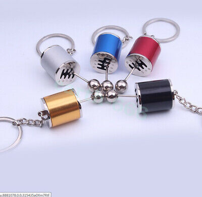 3X Metal Gear Box Shifter Key Chain Fob Ring For Car 6-Speed Model Keychain New
