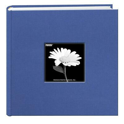 Fabric Frame Cover Photo Album 200 Pockets Hold 4x6 Photos, Sky Blue, Blue