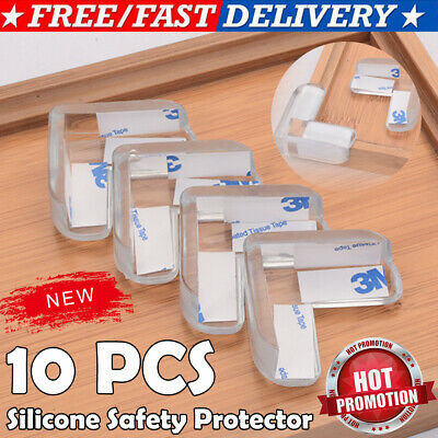 10 Pcs Child Baby Safety Silicone Protector Table Corner Edge Protection Cover