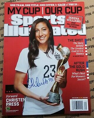 6c284c57319 Christen Press USWNT 2015 World Cup Signed Auto Sports Illustrated Magazine