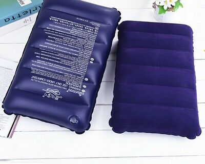 Large Travel Camping Pillow Inflatable Head Rest Cushion Rectangle Comfort