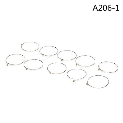 10pcs Guitar Strings Stainless Steel Acoustic Guitar String 1st E String A206-TE
