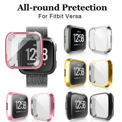 Fitbit Versa Protective Case Cover Plating Screen Protector Case Cover 1pc