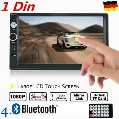 "1080P 7"" Zoll 1 Din AUTORADIO BLUETOOTH USB SD MP5 Player TOUCHSCREEN SALE"