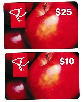 2 Collectible store PRESIDENT'S CHOICE LOBLAW FORTINOS gift cards fruits apples