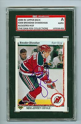 58104643660 Brendan Shanahan Autographed 1990-91 Upper Deck Card #269 SGC Authentic  Encased