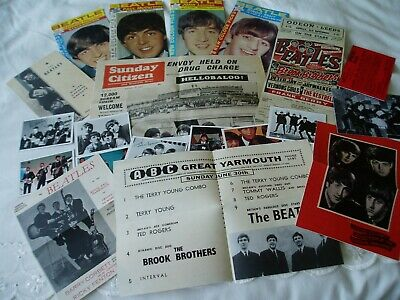 THE BEATLES.....nice collection of REPLICA items taken from 1960's..Programmes +