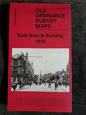 Old Ordnance Survey Map - East Ham & Barking 1915 - Alan Godfrey Map