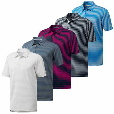 adidas Golf Mens Ultimate 365 2-Color Stripe Polo Shirt Top 32% OFF RRP
