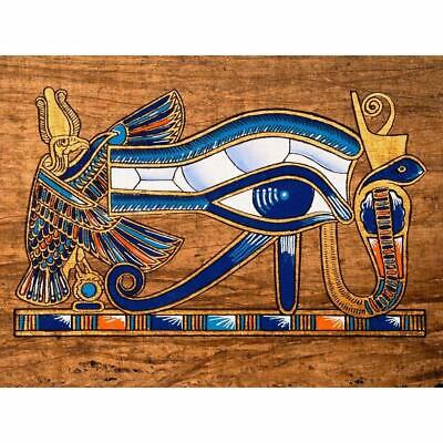 Wall Art Of Egyptian Papyrus Depicting The Horus Eye Unframed Canvas Painting