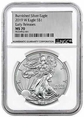 2019-W American Silver Eagle Uncirculated Collectors Burnished Coin in OGP 19EG