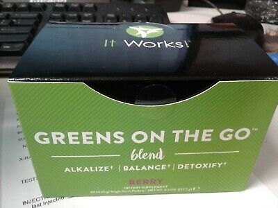 It Works! Greens on the Go Blend Packets - Berry Flavor - Box of 30