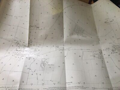 1911 Ordnance Survey Map Plan Thornton Le Clay And Dotson Grange Most FRAMEABLE
