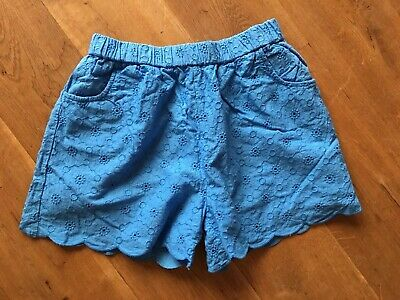Mini Boden Girls Blue Broiderie Anglaise Shorts Excellent Condition Age 11yrs