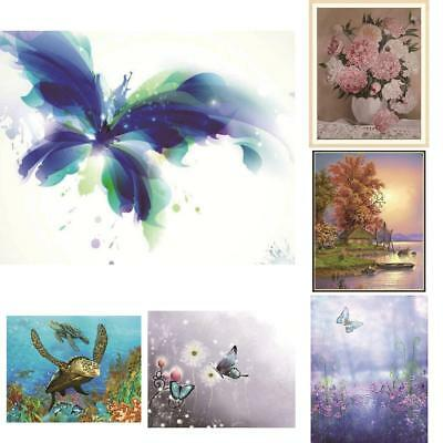 Butterfly Flower 5D DIY Diamond Painting Embroidery Cross Crafts Stitch Home Art