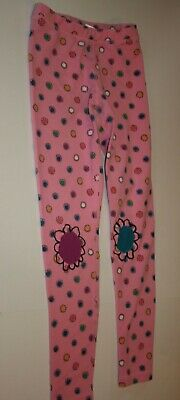 Hanna Andersson Girls 150cm 12 Year French Terry Heavy Leggings Pink Flowers