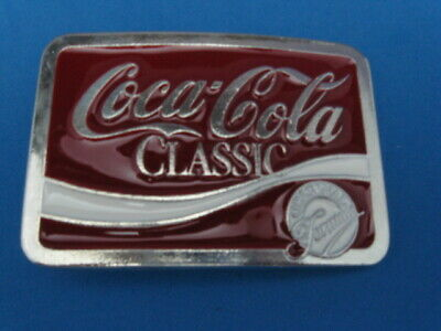 New Old Stock Quality Coca-Cola Pewter Style Metal Belt Buckle Made In Usa