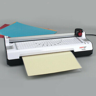 Office Hot and Cold Laminator Machine w/ 100 Sheet A4 Laminating Pouch Film