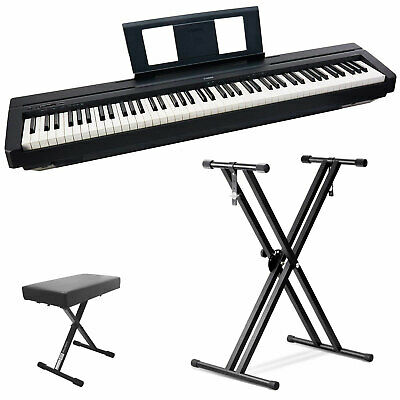 Yamaha P45 88-Key Weighted Action Digital Piano W/Pedal,Power Supply,Stand&Bench