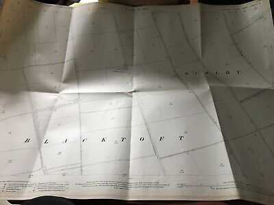 1909 Ordnance Survey Map Plan SCALBY BLACKTOFT COUNTRY AREA FIELDS Staddlethorpe