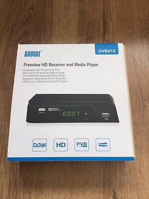 August DVB415 - Freeview HD Recorder Box - Watch and Record 1080p Freeview TV