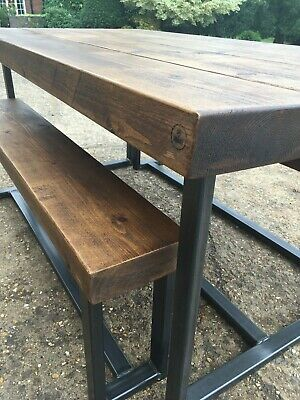 Industrial Style Bench Dining Set (Extra Chunky)