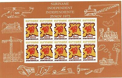 SURINAME  1975, Independence 3 minisheets  MNH