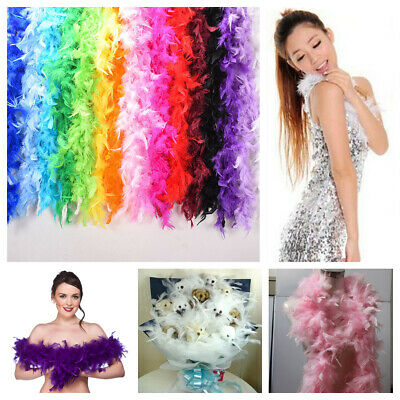 2M Feather Boa Strip Fluffy Craft Costume Dress Up Wedding Party DIY Decoration