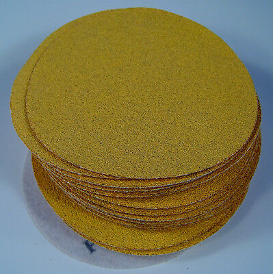 "50pc 80 Grit 5"" HOOK and LOOP Premium Gold Line SANDING DISCS Sandpaper USA new"