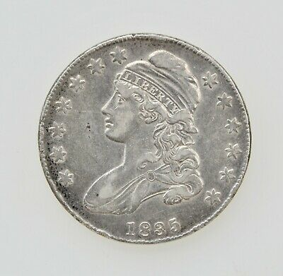 1835 U.S. CAPPED BUST HALF DOLLAR SILVER TYPE COIN 1800's