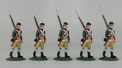 Frontline Continental Marines - 5 Marching at Right Shoulder Arms - red trim MIB