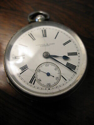 Solid Silver 19thC Pocket Watch by Kendal & Dent London.No Reserve