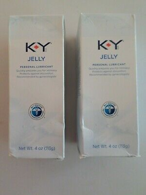 K-Y Jelly Personal Lubricant 4oz - 2 pack, Exp 08/2020