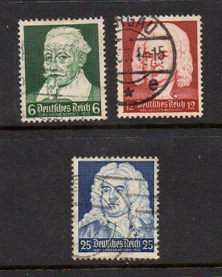 Germany Third Reich 1935 Musicians Anniversaries Set Sg570-572 Good Used Cat £4