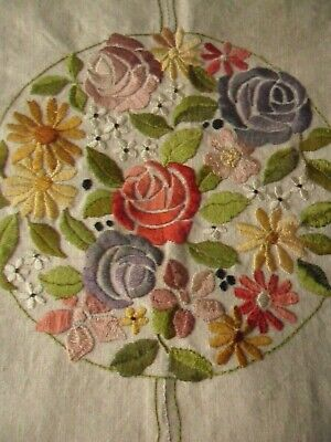 Vintage Embroidered Cushion Cover/Chair Back