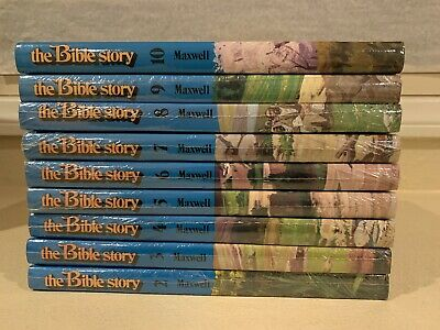 The Bible Story by Arthur S Maxwell Volumes 2-10 Shrinkwrapped 1975 Edition