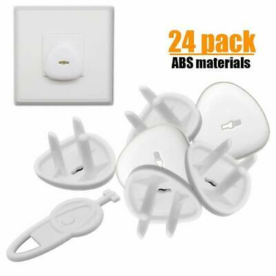 QIAOLI 24 Pack High-Strength ABS Material Electrical Outlet Covers Plugs