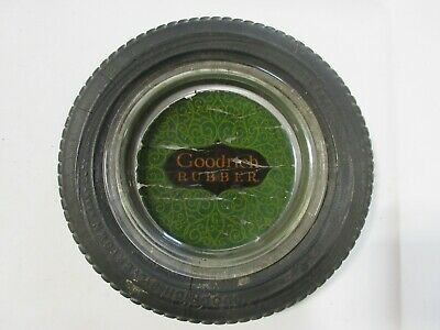 Goodrich Rubber Tire Ashtray Glass-Original Tire