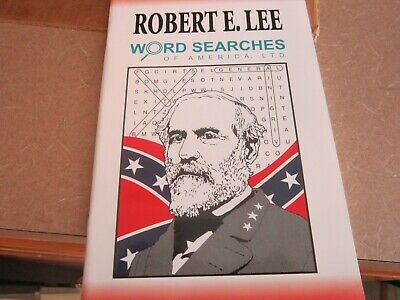 ROBERT E. LEE  Commanding general of the Confederate army Word search book, new