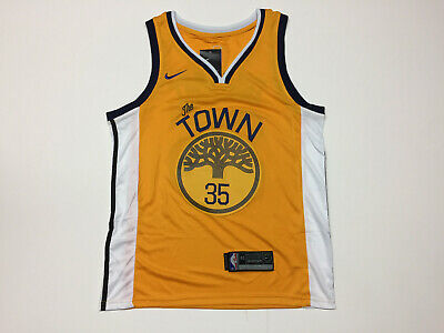 4fedc802 Kevin Durant #35 Golden State Warriors The Town Men's Yellow Jersey New