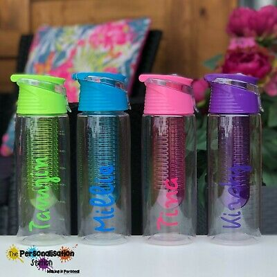Love this Coloured Named Water Bottle Fruit, Island, Beach, Holiday 700ml