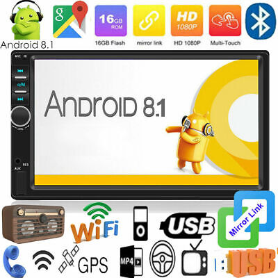 "7 "" 2Din Android 8.1 Quad Core GPS Navi Wifi Stereo Auto MP5 Fm Lettore Radio BT"