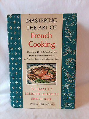 Julia Child MASTERING THE ART OF FRENCH COOKING vintage 1968 HB DJ cookbook