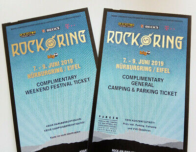 1 Rock am Ring 2019 Weekend Festival Ticket + General Camping und Parking Ticket