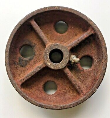 Beautifully Rusted Vintage Metal Wheel Steampunk Industrial Art Deco