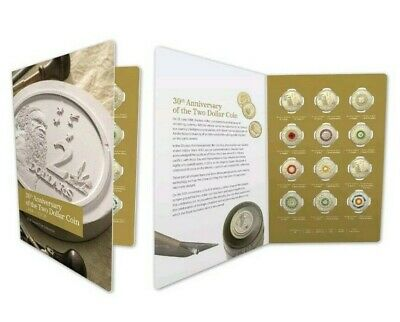2018 $2 30Th Anniversary Of $2 Coin - Twelve (12) Coloured Coins Set