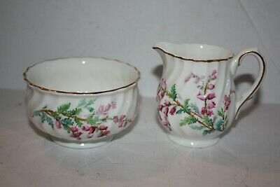 "RARE H 4827 Royal Doulton ""Bell Heather"" Open Sugar and Creamer R1941"